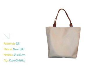 Bolsa Ecológica Nylon 600 e Couro Sintético - Ecobag | Na Sacola