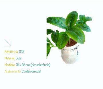 Saquinho Ecológico Algodão Cru para Planta - Na Sacola